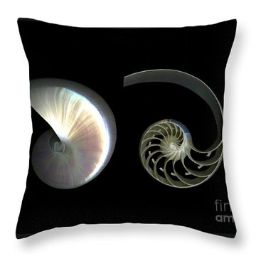 Nautilus Deconstructed Throw Pillow by Christian Slanec