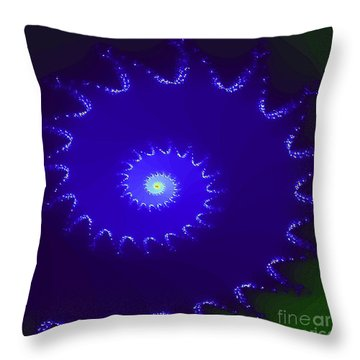 Throw Pillow featuring the digital art Nautilus by Dragica  Micki Fortuna