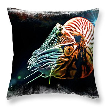 Nautilus Dreams Throw Pillow