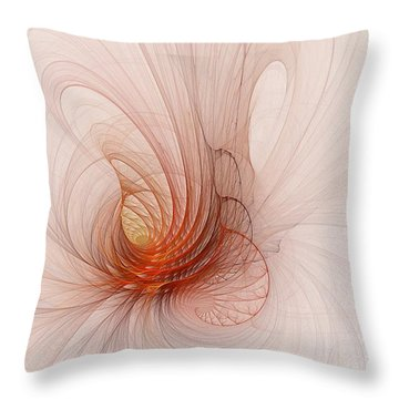 Nautilus In The Fractal Ether Throw Pillow