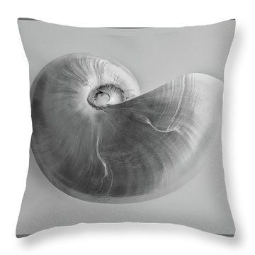 Throw Pillow featuring the photograph Nautilus by Louise Lindsay