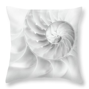 Nautilus Shell In High Key Throw Pillow