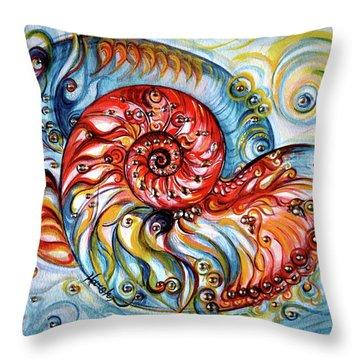 Nautilus Shell - Ocean Throw Pillow