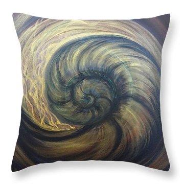 Nautilus Spiral Throw Pillow