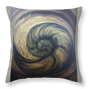 Nautilus Spiral Throw Pillow