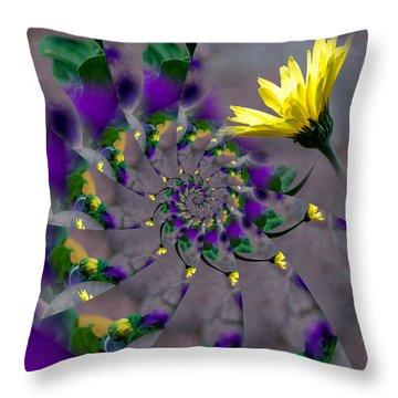 Nautilus Swirls Throw Pillow