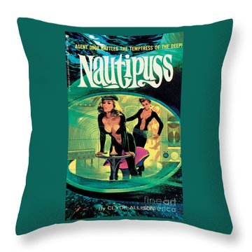 Nautipuss Throw Pillow
