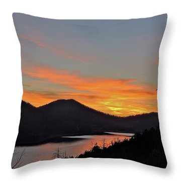 Navaho Lake Throw Pillow