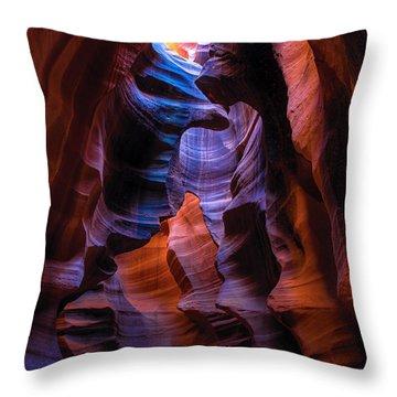 Navajo Curtains Throw Pillow
