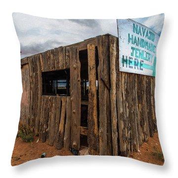 Navajo Jewelry Throw Pillow