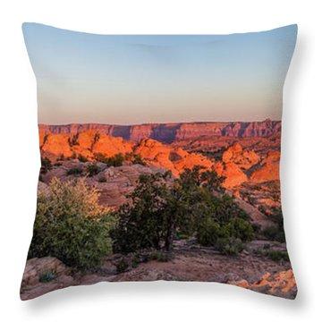 Navajo Land Morning Splendor Throw Pillow