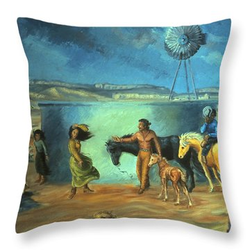 Navajo Love As Long As The Wind Shall Blow Throw Pillow by Dawn Senior-Trask