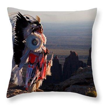 Navajo Sunrise Throw Pillow