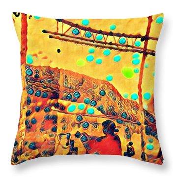 Navajo Woman Weaving 1 Throw Pillow