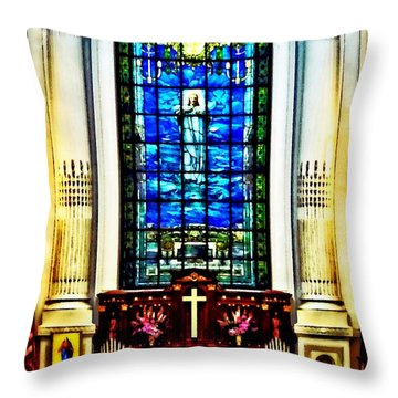 Naval Academy Chapel Throw Pillow