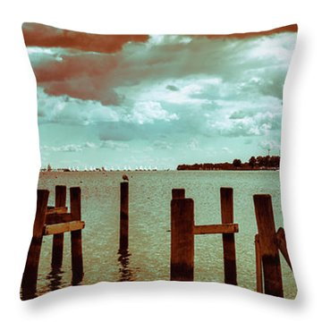 Throw Pillow featuring the photograph Naval Academy Sailing School by T Brian Jones