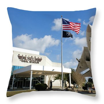 Naval Aviation Museum Throw Pillow