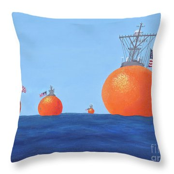 Naval Oranges Throw Pillow