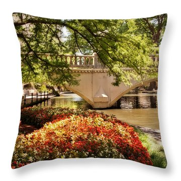 Navarro Street Bridge Throw Pillow by Steven Sparks