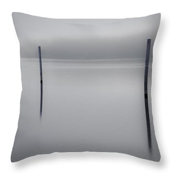 Navigating In Fog Throw Pillow