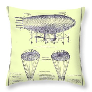 Navire Aerien Throw Pillow