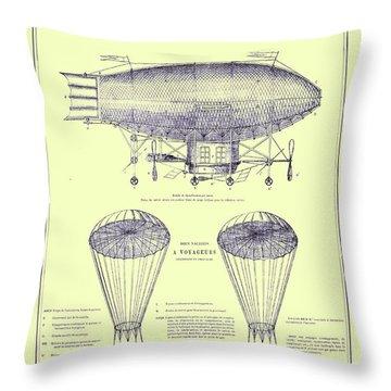 Navire Aerien Throw Pillow