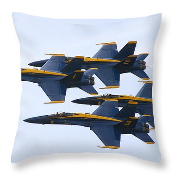 Throw Pillow featuring the photograph Navy Blue Angels  by Ricky L Jones