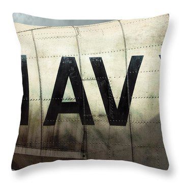 Throw Pillow featuring the photograph Navy - Kaman K-16b Experimental Aircraft by Gary Heller