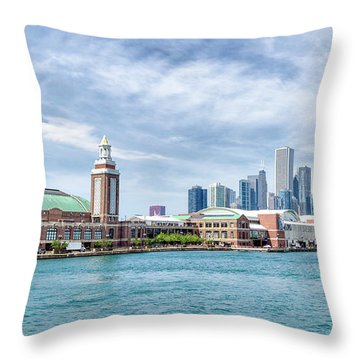 Navy Pier - Chicago Throw Pillow