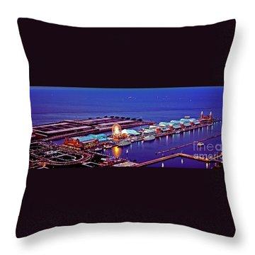 Navy Pier Throw Pillow