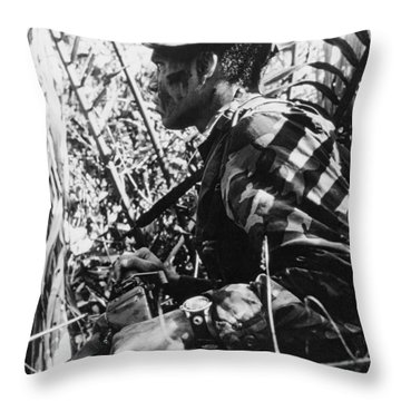Navy Seal In Mekong Delta Throw Pillow