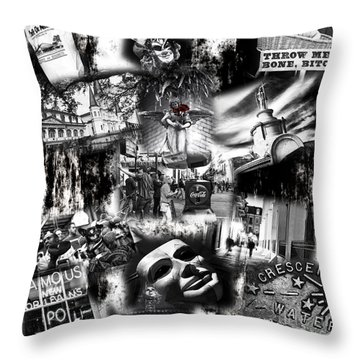 Throw Pillow featuring the photograph Nawlins by John Rizzuto
