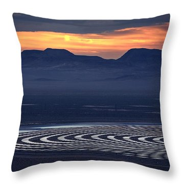 Nay For Fossil Fuel. Yea For Renewable Energy Throw Pillow