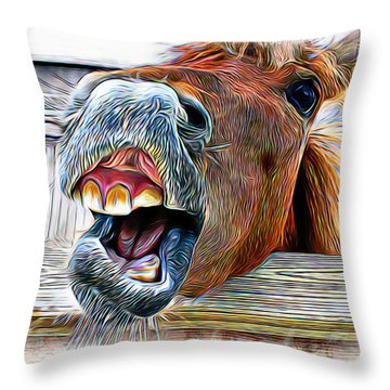 Aaron Berg Photography Throw Pillow featuring the photograph Nay Sayer by Aaron Berg