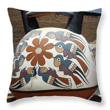 Throw Pillow featuring the photograph Nazca Ceramics Peru by Aidan Moran