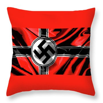 Nazi Flag Color Added 2016 Throw Pillow