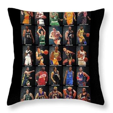 Nba Legends Throw Pillow