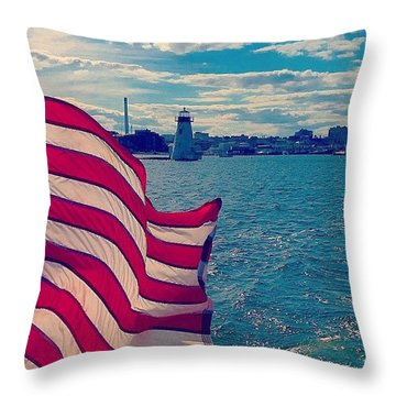 Freedom On The Water Throw Pillow
