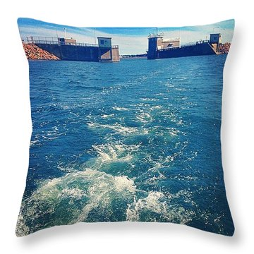 Leaving It All Behind For A Day Throw Pillow