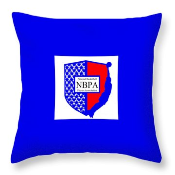 Throw Pillow featuring the digital art Nbpa Logo Redesign Sample by Tamir Barkan