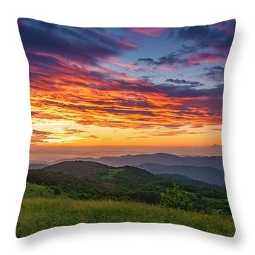 Nc Mts Sunrise Throw Pillow