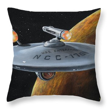 Ncc-1701 Throw Pillow