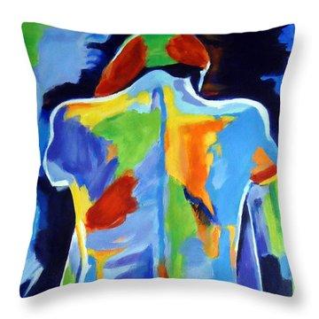 Ne Me Quitte Pas Throw Pillow by Helena Wierzbicki
