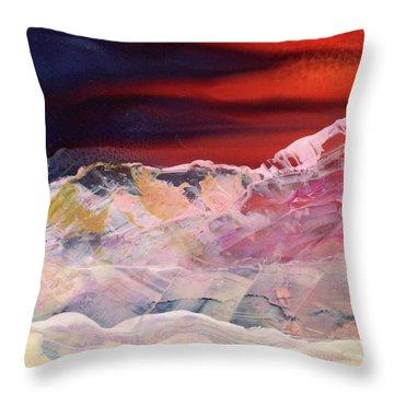 Near Arrow Mountains Throw Pillow