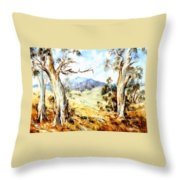 Near Avoca Throw Pillow