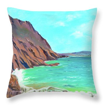Throw Pillow featuring the painting Near Gara by Elizabeth Lock