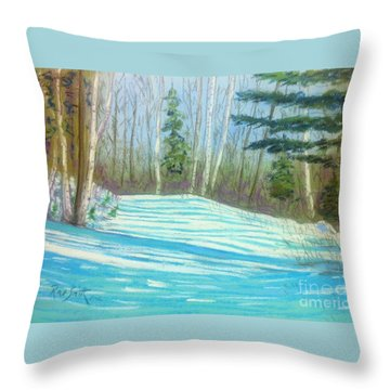 Near Hubbards Throw Pillow by Rae  Smith  PAC