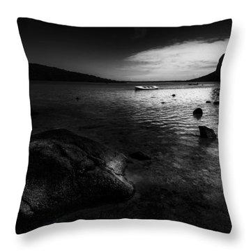 Near Le Morne Throw Pillow