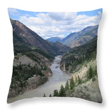 Near Lillooet Bc Throw Pillow