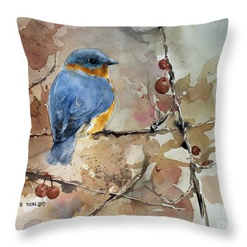 Near Spring Throw Pillow by Monte Toon